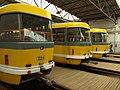 Plzeň, Vozovna Slovany, tramvaje II.JPG
