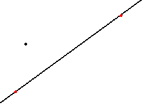 Playfair's axiom - Premise of Playfair's axiom: a line and a point not on the line