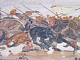 Pompeï.- La maison du Faune «Combat entre les Grecs et les Perses».jpg