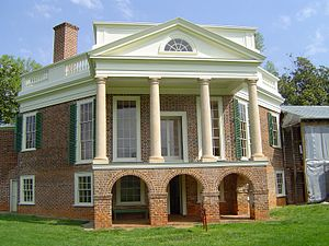 Jeffersonian architecture - Poplar Forest, note the octagonal design