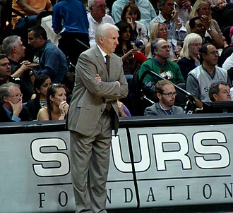 Gregg Popovich - Coach Popovich during a regular season game in 2011