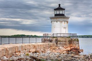 Portland Breakwater Light lighthouse in Maine, United States