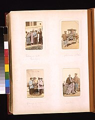 Portraits of a Chinese policeman with prisoners, a person being carried in a sedan chair, a group of women and a barber LCCN2011660104.jpg