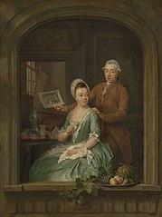 Portrait of Robert Muys and his Wife Maria Nozeman