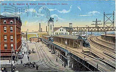 PostcardRRstaBridgeportCT1916
