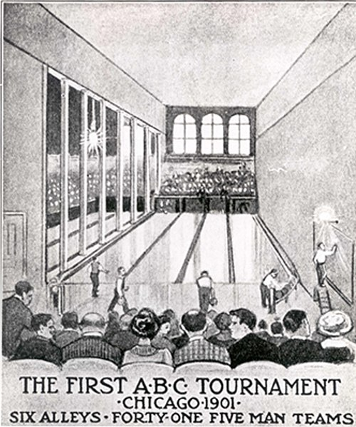 File:Poster of the first bowling competition, 1901.jpg