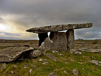 County Clare - Poulnabrone dolmen in The Burren.