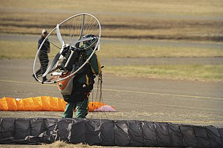 Powered paragliding form of ultralight aviation