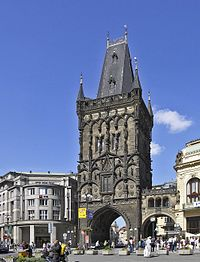 http://upload.wikimedia.org/wikipedia/commons/thumb/4/47/Prag_Pulverturm.jpg/200px-Prag_Pulverturm.jpg