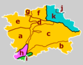 Prague CZ geomorphological subdivisions colour code.png