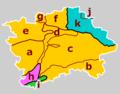 Prague CZ geomorphological subdivisions colour code.png