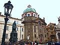 Praha, kostel sv. Františka a křižovníci.JPG