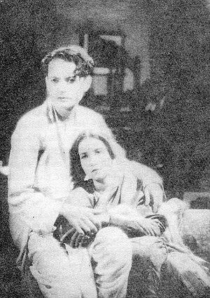 Jamuna Barua - Pramathesh Barua and Jamuna Barua in Devdas