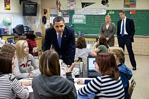 Parkville, Maryland - President Obama at Parkville Middle School, February 14, 2011