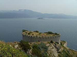 Operation Tiger (1992) - Prevlaka Fortress, overlooking the mouth of the Bay of Kotor