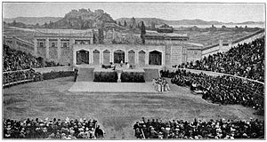 Déjanire - First representation of the play Déjanire in the arena of Béziers (1898)