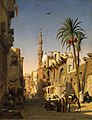 Prosper Marilhat - Ezbekiyah Street in Cairo - WGA14078.jpg