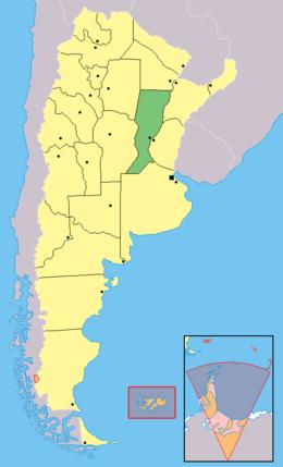 Mapa de Santa Fe