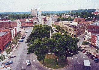 Public Square (Watertown, New York) - Aerial view of Public Square.