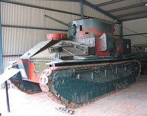 Vickers Medium Mark II - Image: Puckapunyal Vickers Medium Mk II 1