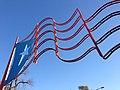 Puerto Rican metal flag at Humboldt Park, Chicago, US.jpg