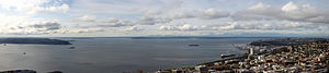 Sound (geography) - Puget Sound, as seen from the Space Needle