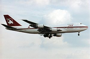 Qatar Airways Boeing 747SR
