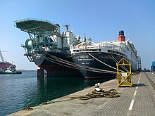 Moored at Drydock World Dubai in late 2013