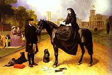 Victoria mit Brown vor Osborne House (Edwin Landseer, 1866) (Quelle: Wikimedia)