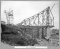 Queensland State Archives 3631 Main bridge erection stage 3 completed and dismantling of tower traveller commenced Brisbane 5 April 1938.png