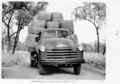 Queensland State Archives 5035 Wool bales being trucked from Rockwood 1952.png