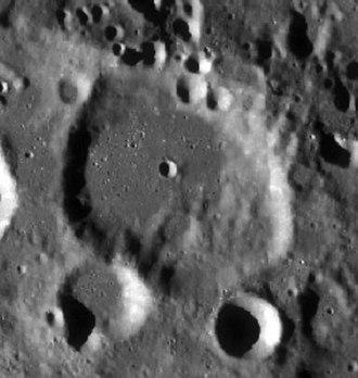 Quetelet (crater) - Image: Quetelet LRO WAC