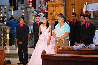 <i>Quinceañera</i> Latin American culture celebration of a girls 15th birthday