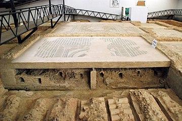 Quintanilla de la Cueza Villa romana Tejada Habitación 12 Mosaico del Ala 002.jpg