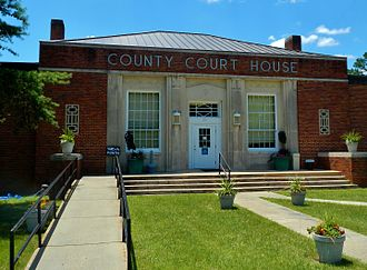 Georgetown, Quitman County, Georgia - Image: Quitman County Courthouse; Georgetown, GA