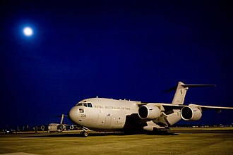 No. 36 Squadron RAAF - C-17 Globemaster of No. 36 Squadron in Japan for earthquake and tsunami relief, March 2011