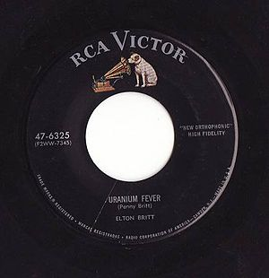 RCA Records - Label of an RCA Victor 45 rpm record from the 1950s; RCA used this label for its 45 rpm records from 1954 to at least 1964.