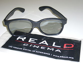 3D film - Resembling sunglasses, RealD circular polarized glasses are now the standard for theatrical releases and theme park attractions.