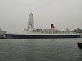 RMS Queen Elizabeth 2 at Osaka,2008.JPG