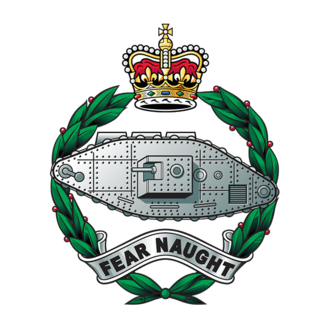 1st Royal Tank Regiment - Cap badge of the Royal Tank Regiment.