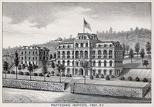 Rensselaer Polytechnic Institute - Engraving of RPI in 1876