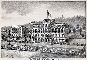 English: Engraving of the original Rensselaer ...
