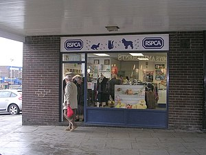 Royal Society for the Prevention of Cruelty to Animals - A RSPCA shop in Bramley, Leeds.
