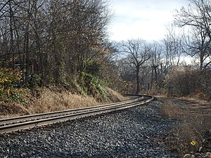 Ijamsville, Maryland - The railroad tracks which run through Ijamsville