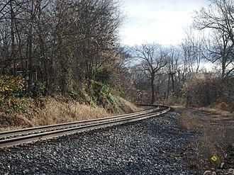 Ijamsville, Maryland - The railroad tracks which run through Ijamsville