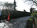 Railway worker on the railway bridge - geograph.org.uk - 1589049.jpg