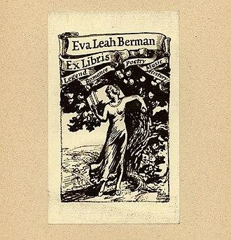 Ralph Fletcher Seymour - Image: Ralph Fletcher Seymour Bookplate Eva Leah Berman