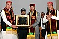 Ram Nath Kovind being presented a memento by the Governor of Himachal Pradesh, Shri Acharya Devvrat, at the 9th Convocation of the Dr. Y.S. Parmar University of Horticulture and Forestry, in Solan, Himachal Pradesh.JPG