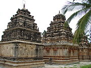 Ramalingeshwara group of temples (rear view of shrines) at Avani