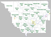 Randolph County Arkansas 2010 Township Map large